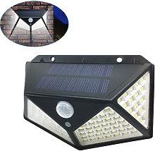 100LED Solar Light Motion Sensor Wall Lamp IP65