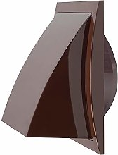 Ø 100mm / 150x150mm Brown Plastic Cowled Hooded