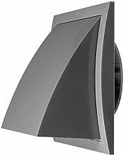 Ø 100mm/150x150mm Grey Plastic Cowled Hooded Air