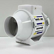 100mm in Line Bathroom Extractor Fan 4 inch Loft