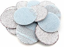 100PCS 1Inch 25mm Sanding Discs Hook & Loop White