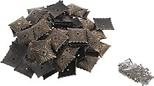 100Pcs 21x21mm Upholstery Nails Antique Bronze