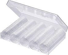 100Pcs 30mm Coin Capsules, Coin Storage Organizer