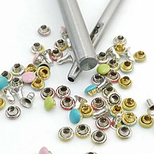 100pcs 4mm Tiny Rivets with Punching Tool, Setters