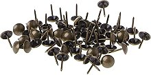 100pcs Antique Brass Upholstery Nails Furniture