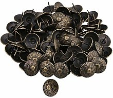 100PCS Bronzy Iron 23x18mm Vintage Round