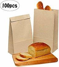 100pcs Brown Paper Bags Kraft Food Bags Packaging