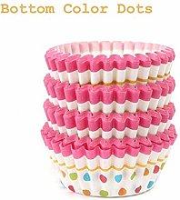 100Pcs Cupcake Liner Baking Cup 4 Styles Cupcake