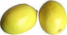100pcs Fake Yellow Mini lemon Plastic Artificial