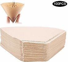 100Pcs Fan‑Shaped Disposable Coffee Filter Paper