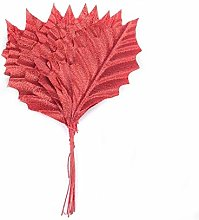 100pcs Gold silver Artificial Silk Maple Leaves