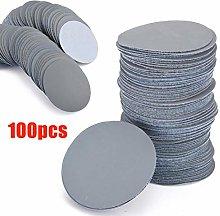 100pcs Sanding Discs 3inch 75mm Flocking Gray