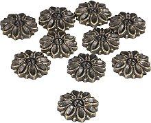 100Pcs Zinc Alloy Flower Decorative Protectors