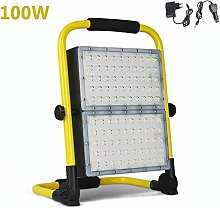 100W Portable Work Light, 8000 Lumen Rechargeable