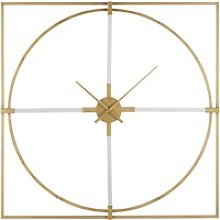 100x100cm gold metal square clock
