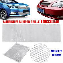 100x33cm 10x5mm Aluminium Car Bumper Grille Grill