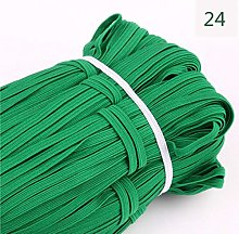 100Y 6mm Colorful Flat Elastic Bands High Elastic