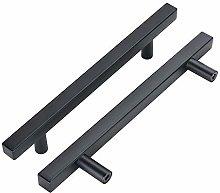 102mm T Bar Cabinet Handles Black - LONTAN Knobs