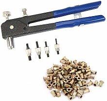 105PC Threaded Rivet Nut Insert Tool Rivnut