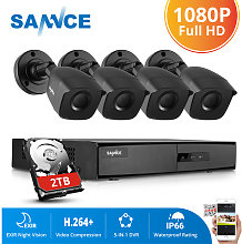 1080P Home Video Security System with 4 Channel
