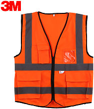 10907 High Visibility Reflective Vest Security