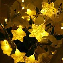 10LED Crack Fairy Star String Lights 1.5m LED String Lights Christmas Lantern Outdoor Garden Wedding Decoration Holiday