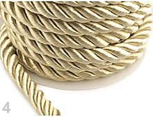 10m 4 Gold Lt. Twisted Cord/Rope Ø10mm, Cords and
