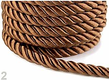 10m Brown Twisted Cord/Rope Ø10mm, Cords and