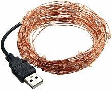 10m IP67 USB LED String Lights Seed Beam String