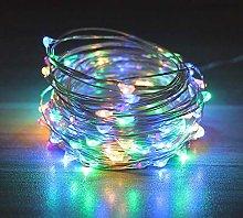10m LED String Lights Flashing Garland Battery