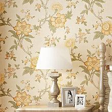 10M Rustic Modern Flowe Wallpaper Roll Livingroom