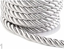 10m Silver Twisted Cord/Rope Ø10mm, Cords and