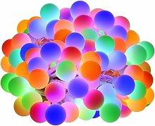 10M String Lights RGB, 100 LED Balls 8 Lighting
