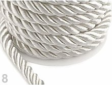 10m White Twisted Cord/Rope Ø10mm, Cord Soutache,