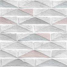 10m x 52cm Geo Brick Wallpaper Roll East Urban Home