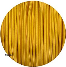 10Meters 2 Core Roud Yellow Italian Vintage