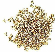 10mm Gold Long Barrell Eyelets & Washers Grommets