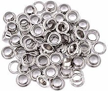 10mm Silver Long Barrell Eyelets & Washers