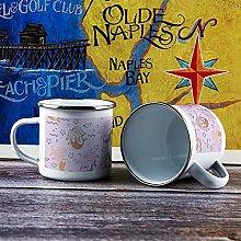 10oz Enamel Mug, Funny Coffee Mug, Animal Pattern