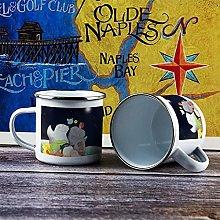 10oz Enamel Mug, Funny Coffee Mug, Cartoon Animal