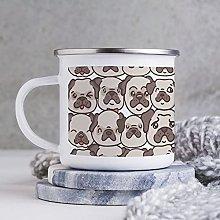 10oz Enamel Mug, Funny Coffee Mug, Dog Head Animal
