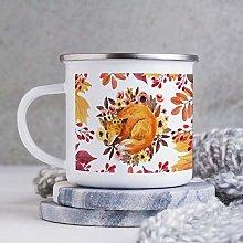 10oz Enamel Mug, Funny Coffee Mug, Fox Animal with