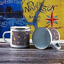 10oz Enamel Mug, Funny Coffee Mug, Galaxy Fox