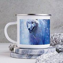 10oz Enamel Mug, Funny Coffee Mug, Illustration