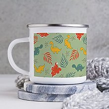 10oz Enamel Mug, Funny Coffee Mug, Orange Design