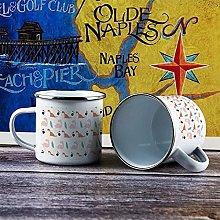 10oz Enamel Mug, Funny Coffee Mug, Pink Cute