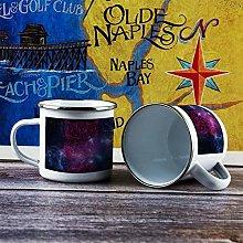 10oz Enamel Mug, Funny Coffee Mug, Purple Milky