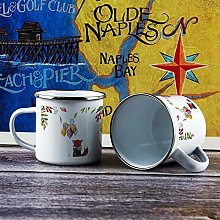 10oz Enamel Mug, Funny Coffee Mug, Red Fox