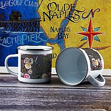 10oz Enamel Mug, Funny Coffee Mug, Vintage Animal