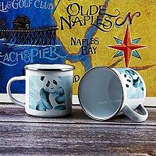 10oz Enamel Mug, Funny Coffee Mug, Watercolor